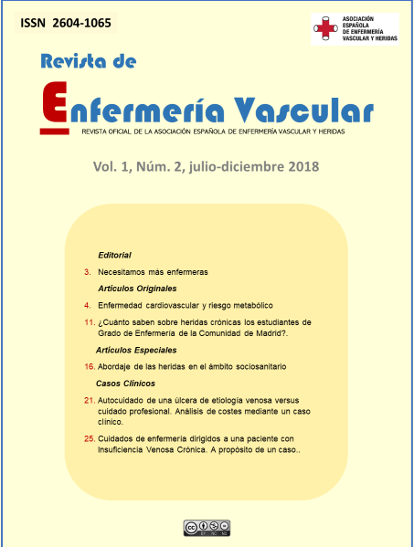 Revista de Enfermería Vascular Vol.1 Núm. 2- julio-diciembre 2018
